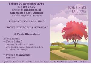 Presentazione libro ''Dove finisce la strada'' @ Biblioteca San Matteo degli Armeni | Perugia | Umbria | Italia
