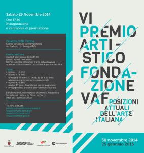 VI PREMIO ARTISTICO - FONDAZIONE VAF @ Palazzo della Penna | Perugia | Umbria | Italia