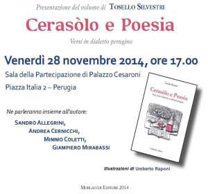 Cerasòlo e Poesia @ Sala della Partecipazione, Palazzo Cesaroni | Perugia | Umbria | Italia
