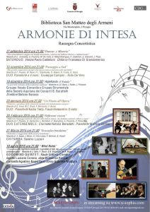 Armonie di intesa @ Biblioteca San Matteo degli Armeni   Perugia   Umbria   Italia