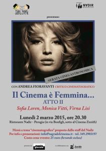 Il Cinema è Femmina... ATTO II @ Ristorante Nadir | Perugia | Umbria | Italia