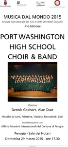 Musica dal Mondo 2015 -Port Washington High School Band & Choir @ Sala dei Notari | Perugia | Umbria | Italia