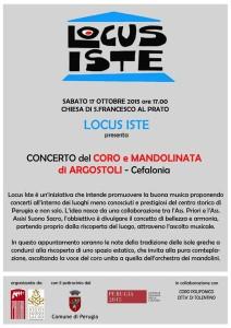 Concerto LOCUS ISTE - Coro e Mandolinata di Argostoli - Cefalonia @ Chiesa di San Francesco al Prato   Perugia   Umbria   Italia