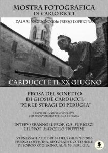 Carducci e il XX Giugno @ L'Officina, Ristorante Culturale   Perugia   Umbria   Italia