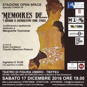 Memoires de… Evento dedicato a Marguerite Yourcenar @ Teatro di Figura Umbro  | Perugia | Umbria | Italia